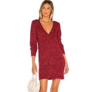 ✨LOVERS & FRIENDS✨Lena Sweater Dress in Berry